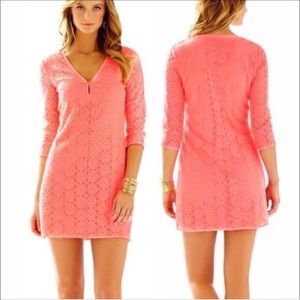 🆕Lilly Pulitzer Lamora Dress in Pucker Pink NWT